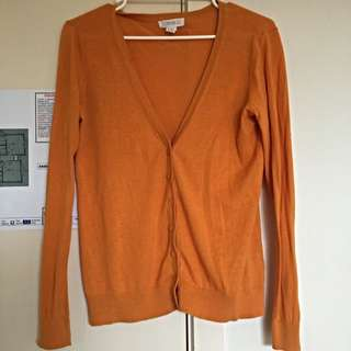 Yellow Orange Forever21 Cardigan