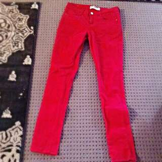 Red Skinny Jeans - Cotton On - Size 10 AUS
