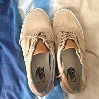 Vans (Cream With Leather Tongue)
