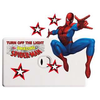Spiderman Light Switch Wall Sticker - Totally Movable