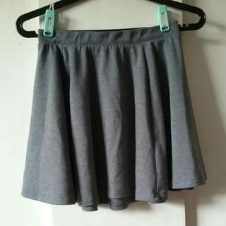 Cotton On Gray Skater Skirt