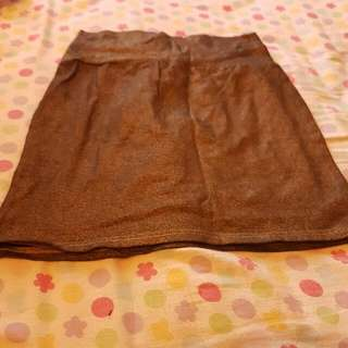 Gold Mini Skirt