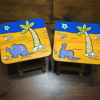Hand-painted Stools