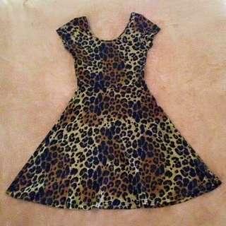 Primark Leopard Skater Dress