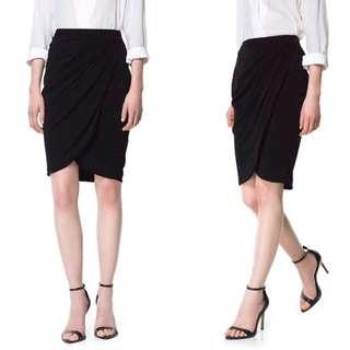 ZARA Sarong Drape Skirt
