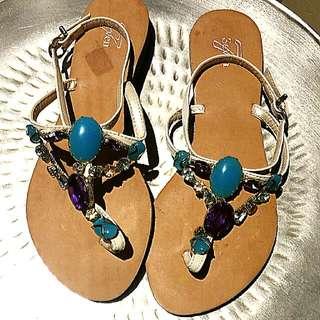 SEVEN Jewelled Sandals