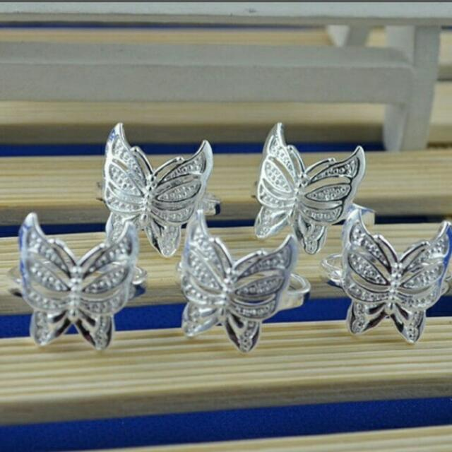 1 set butterfly rings(5 pcs)