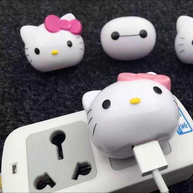 手機專用1A充電頭 凱蒂貓 Hello Kitty造型