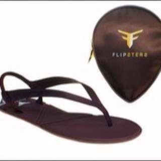 Flipsters Fold Up Copper Flip Flops Size XS