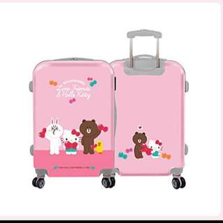 Line Kitty聯名行李箱
