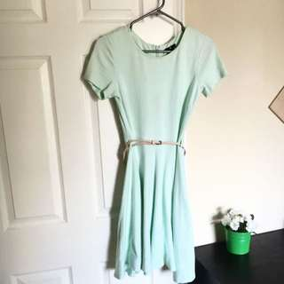 Cute Mint A-line Dress