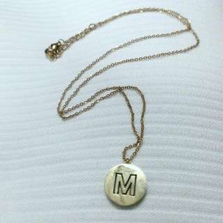 Engraved Letter Necklace