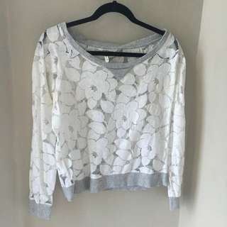 BCBG Lace Sweater
