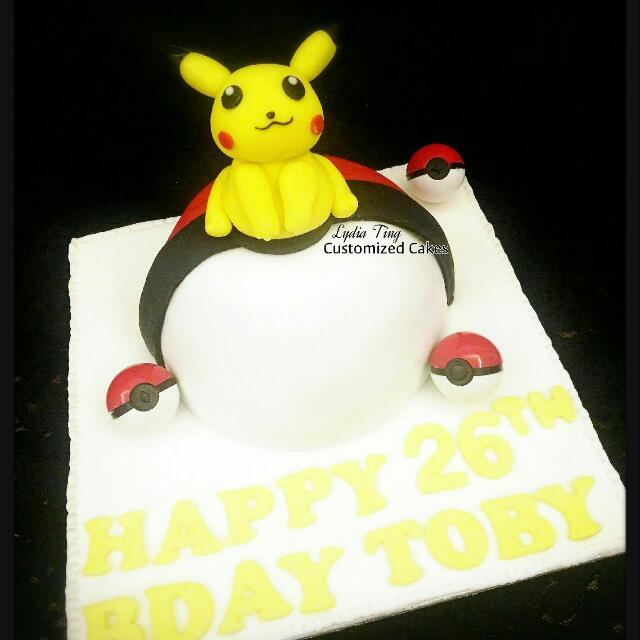 Amazing 3D Cake Customized Fondant Pokemon Go Pikachu Charmander Bulbusaur Funny Birthday Cards Online Alyptdamsfinfo
