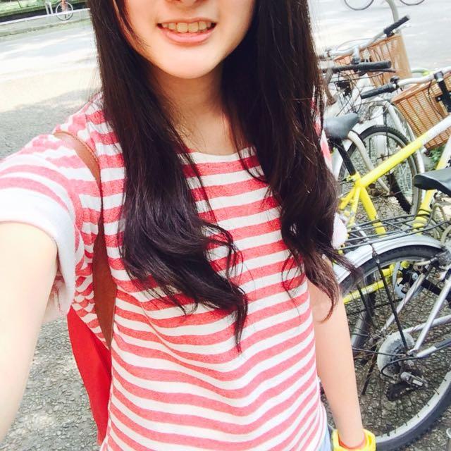 紅白條紋短上衣