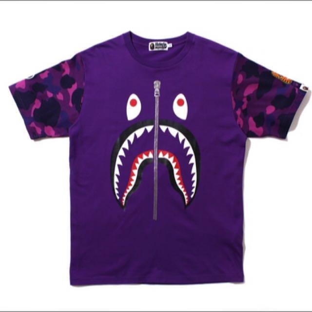《佛價》Bape   鯊魚短t    非remix  jordan  nike  adidas   stage