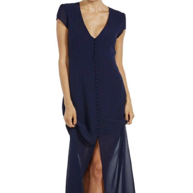Bardot Tiffany Maxi Dress - Navy Size 8
