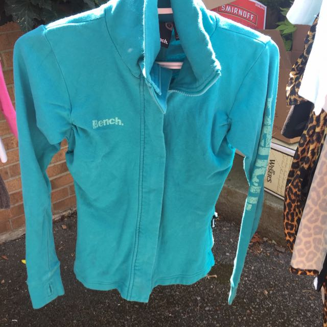 Bench Turquoise Zip Up Sweater
