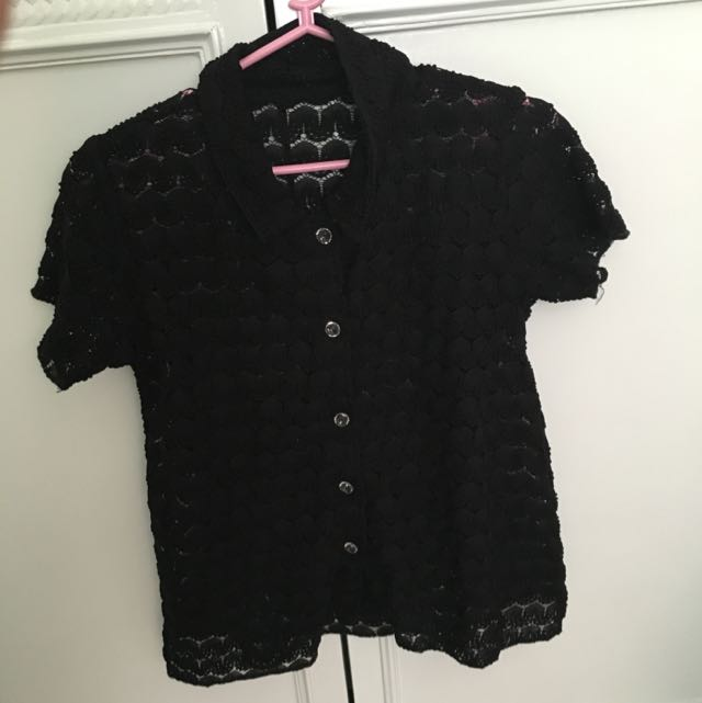 Black Polo Top (cropped)