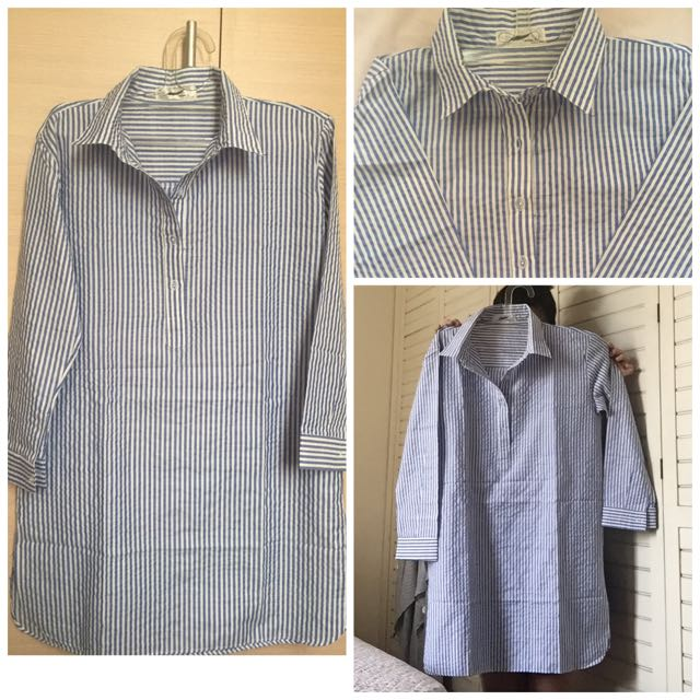 Blue Stripe Long Shirt