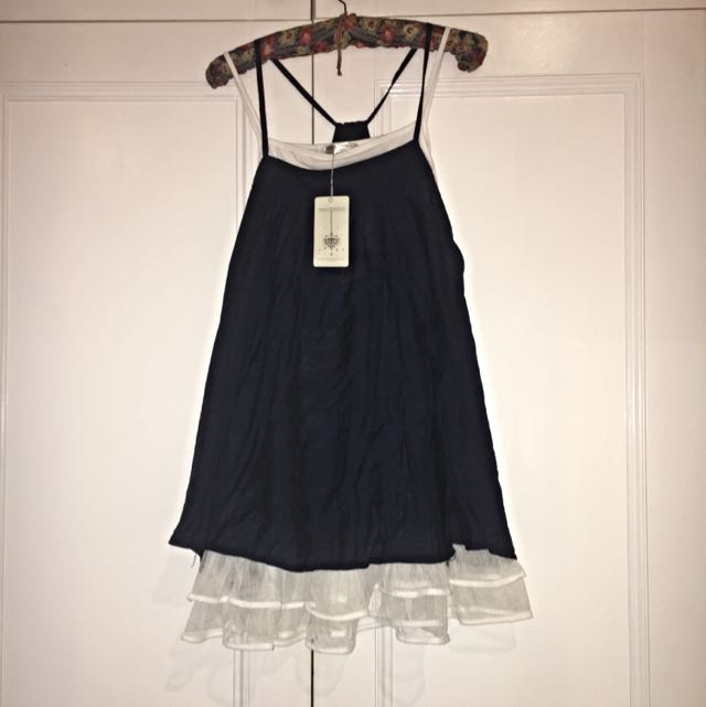 BNWT Navy&White Dress