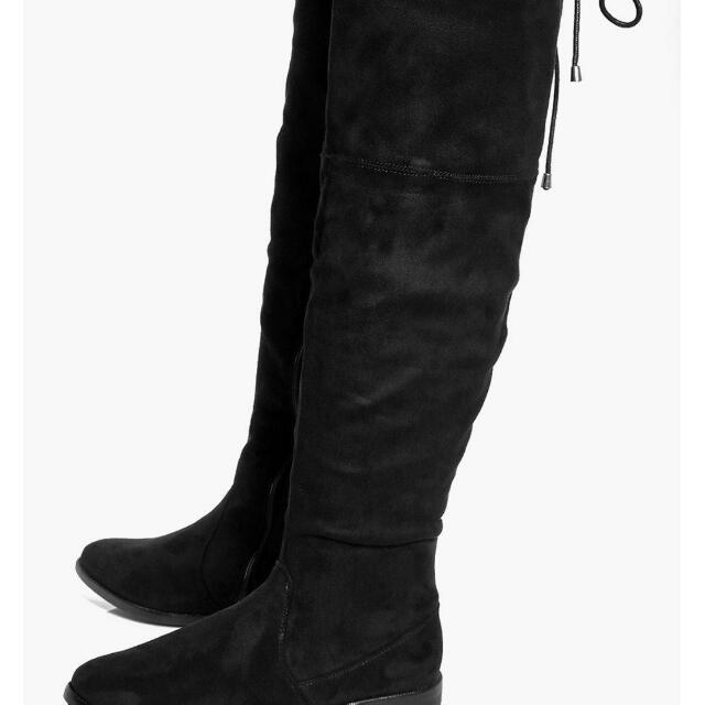 Boohoo Over The Knee Boots Size 8