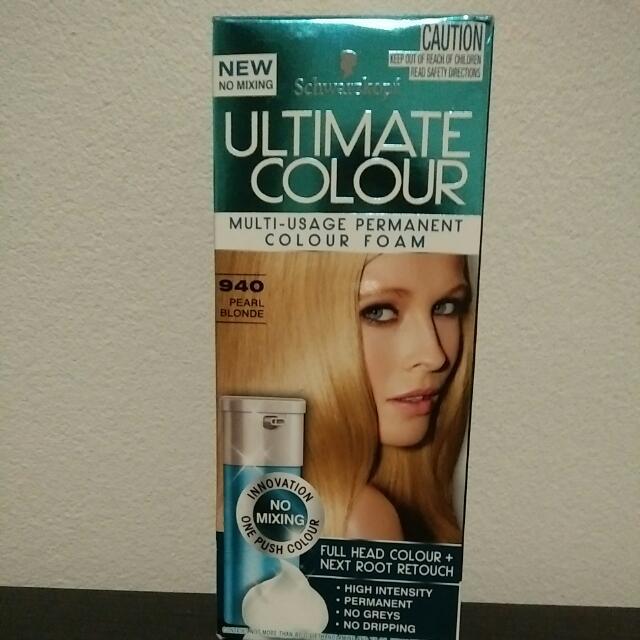 Brand New Hair dye Foam Blonde Colour Color