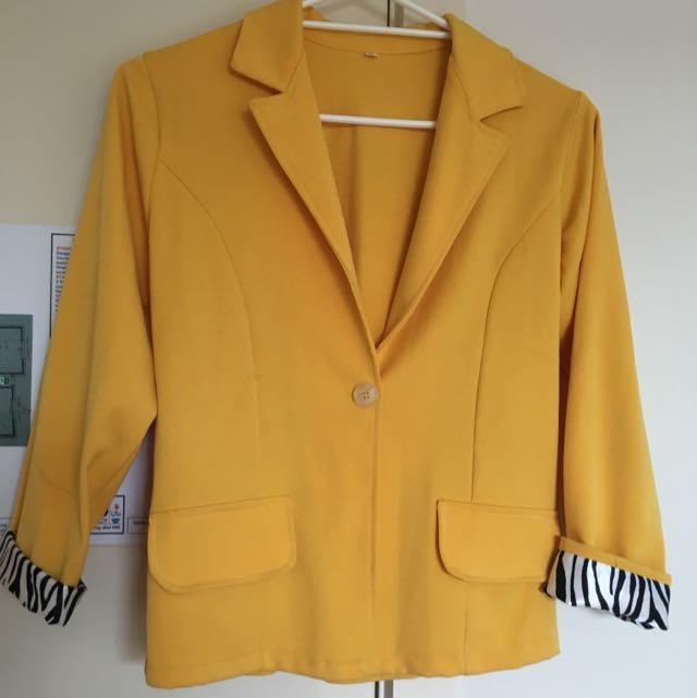 Bright Yellow Office Coat