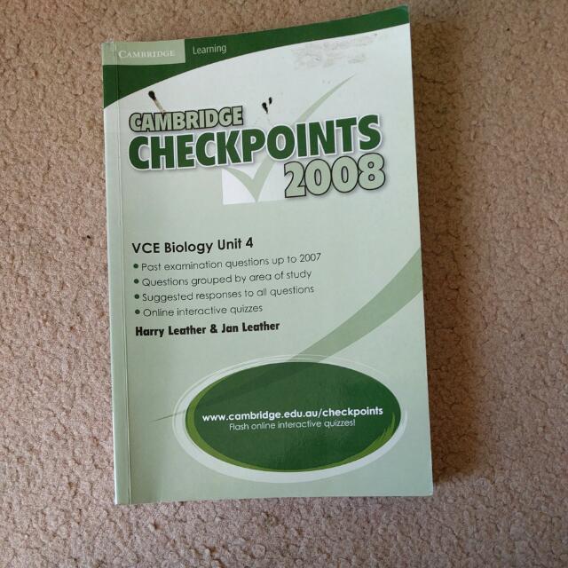 Cambridge Checkpoints 2008 Biology Unit 4