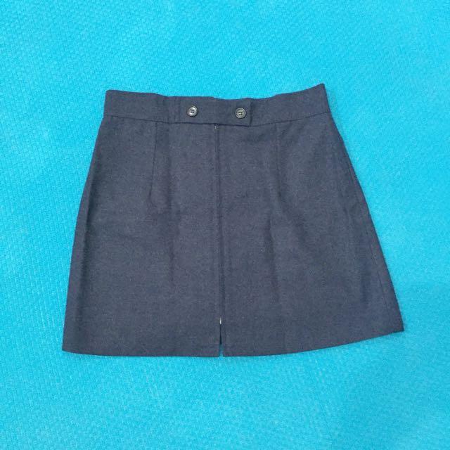 Dark Blue Jeans Mini Skirt