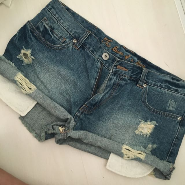 Denim With Long Pocket Shorts