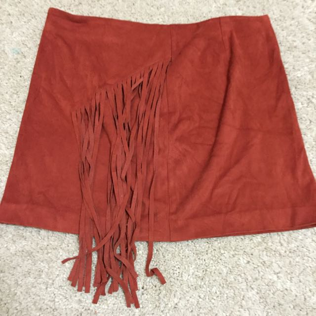 F21 Suede Skirt( Size M)