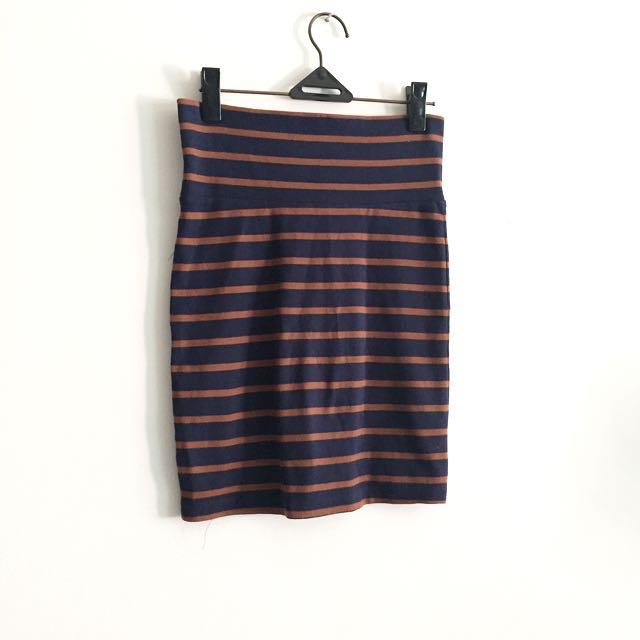 3for100k / F21 Stripes Skirt