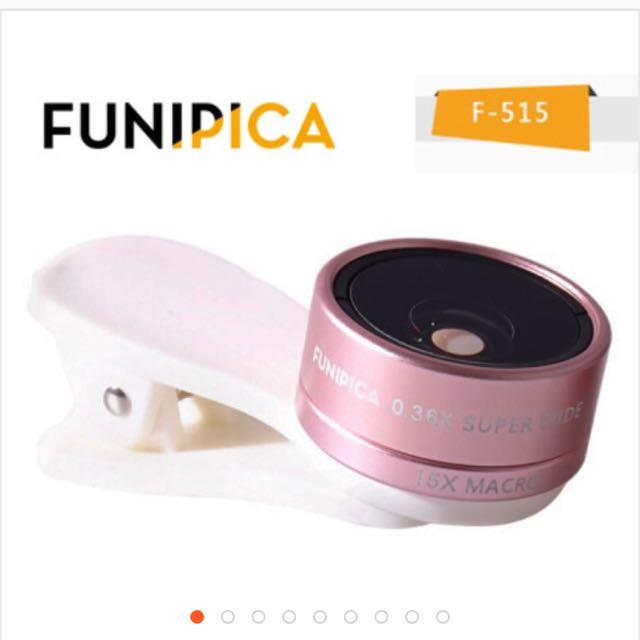 FUNPICA 自拍廣角 更清晰  0.36x廣角+15x微距 二合一廣角鏡頭