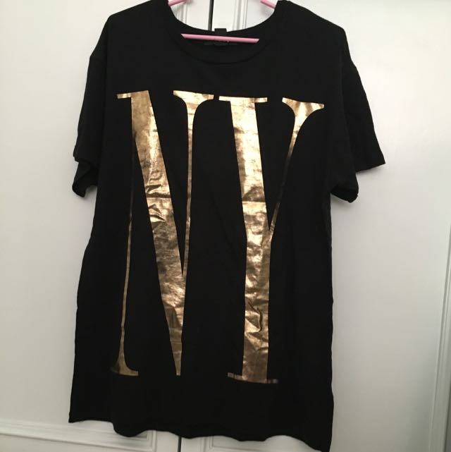 Gold Letter Tee