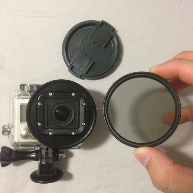 gopro polarised lens 58mm photography on carousell