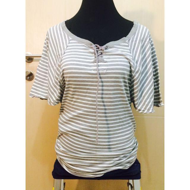 Gray Stripes Blouse