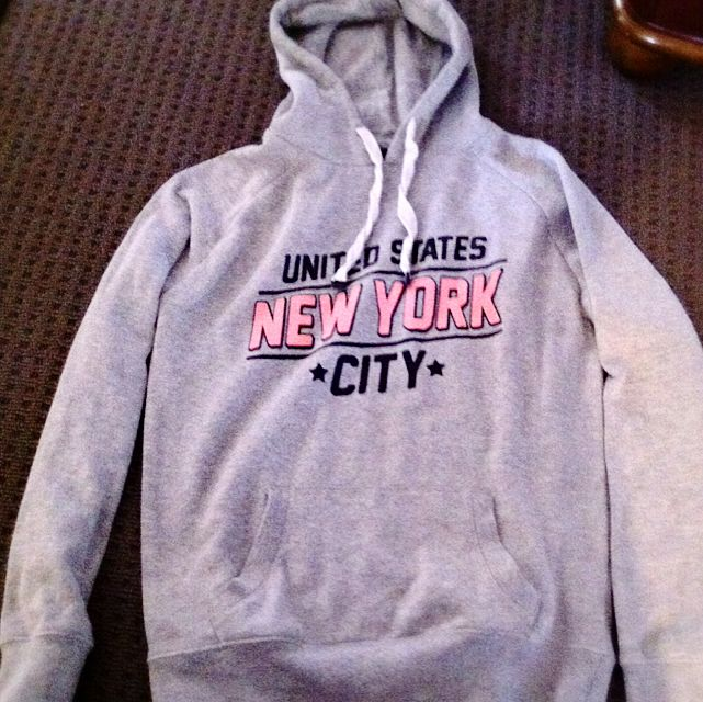 Grey 'New York' Hoodie - Cotton On - Size S