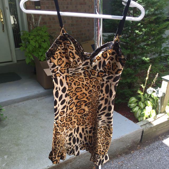Guess Silk Leopard Dress