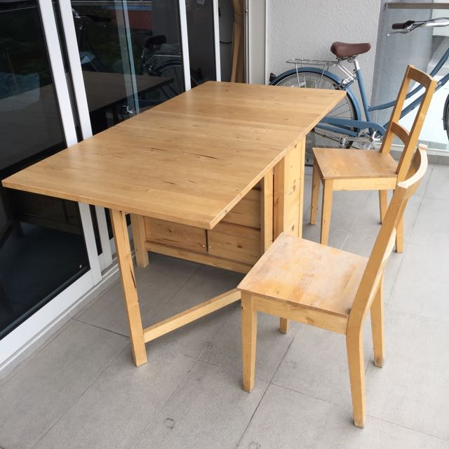 Ikea Norden Gateleg Table And Chairs Birch Furniture Home Living On Carousell