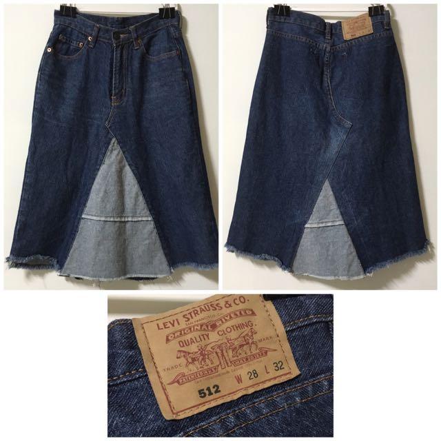 Levi's牛仔窄裙