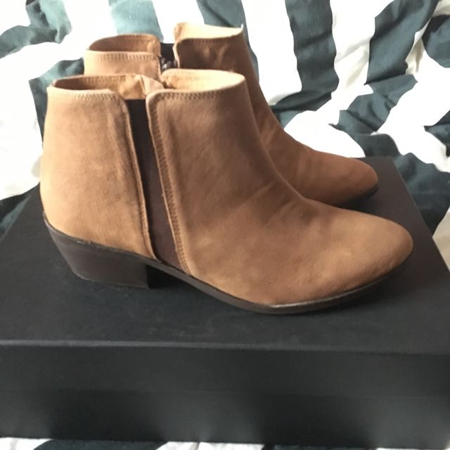 Light Brown Ankle Boots
