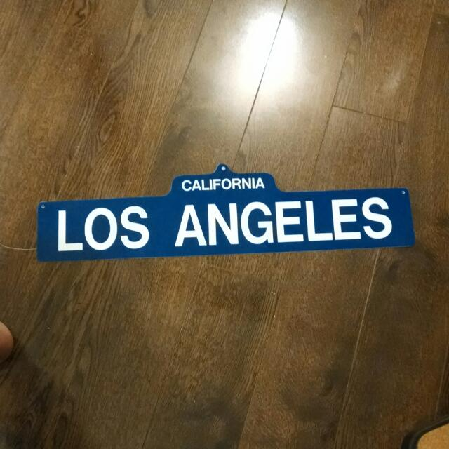 Los Angeles Wall Decoration Sign
