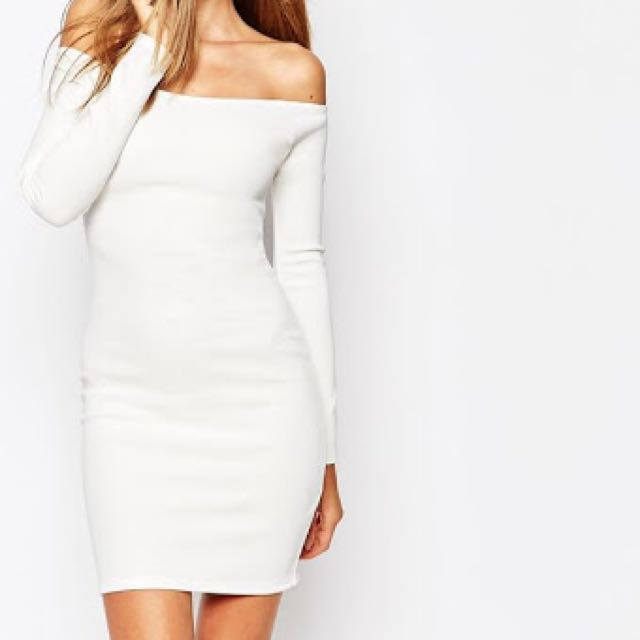 Missguided Off The Shoulder Dress