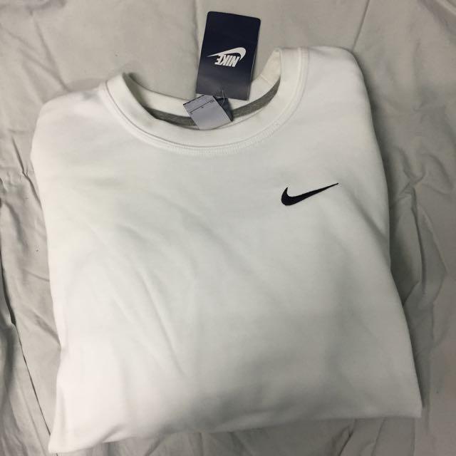Nike Swoosh Sweatshirt Jumper In White