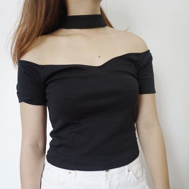 Off Shoulder Choker Top