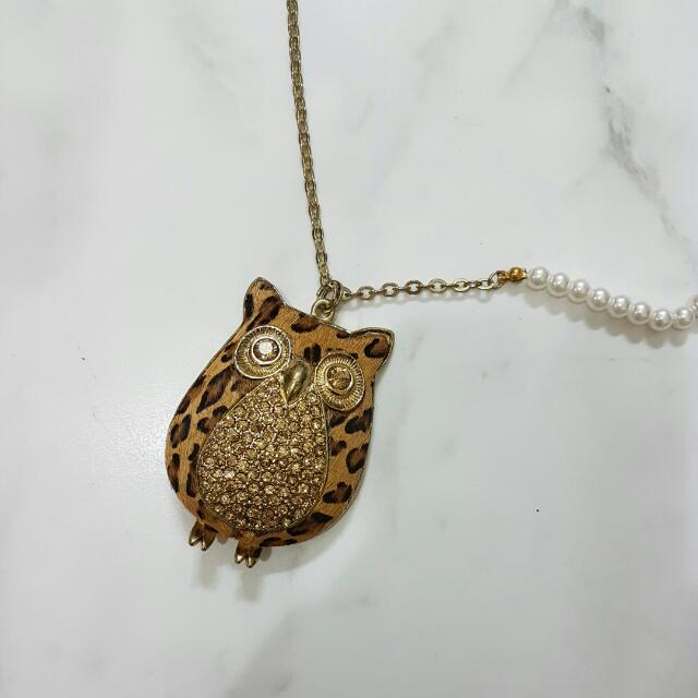Owl Bling Bling Necklace