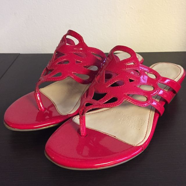Red Portland Flats - Size 7