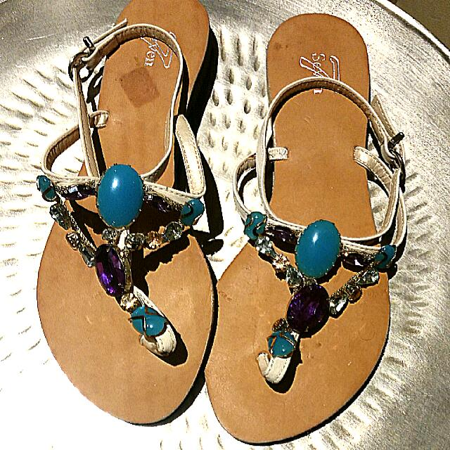 SEVEN Jewelled Sandals