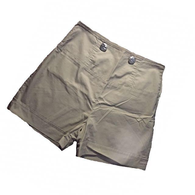 Shapes High waist khaki shorts
